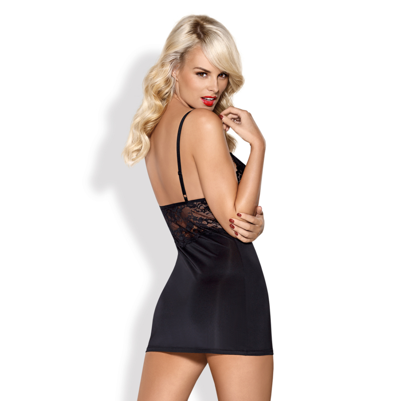 OB3889  810-CHE-1 chemise & thong black L/XL EAN: 5901688213889