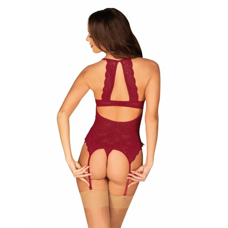 OB9354 Ivetta corset & thong S/M EAN: 5901688229354