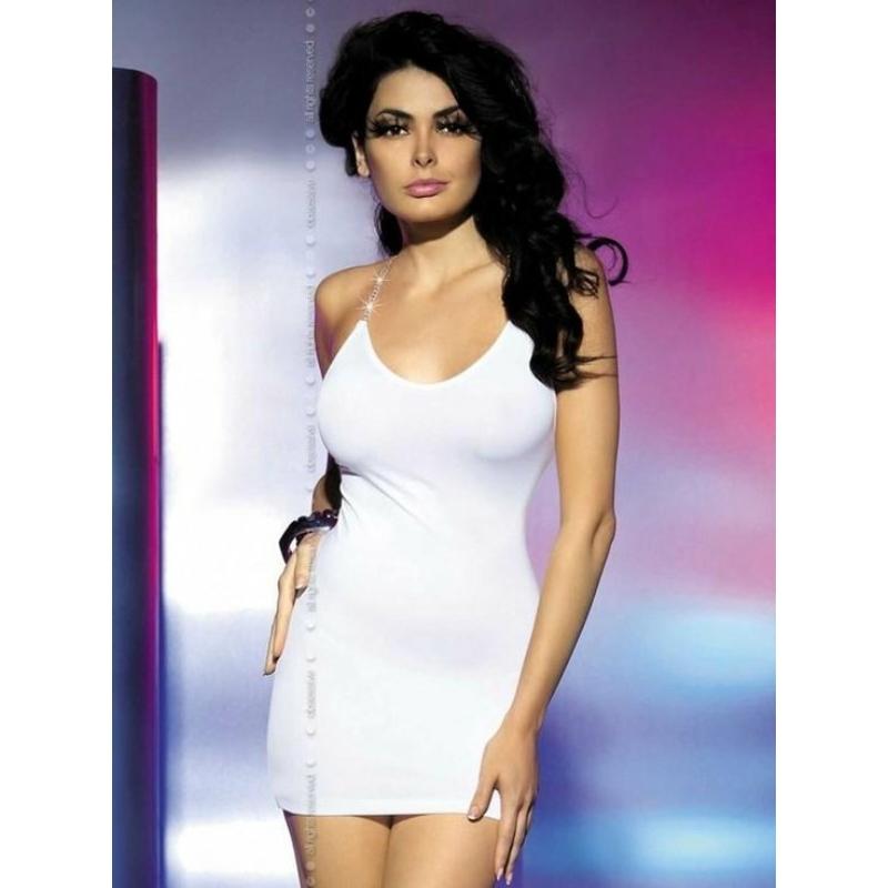 OB7518 OBSESSIVE Oxalis white chemise L/XL EAN: 5900308557518