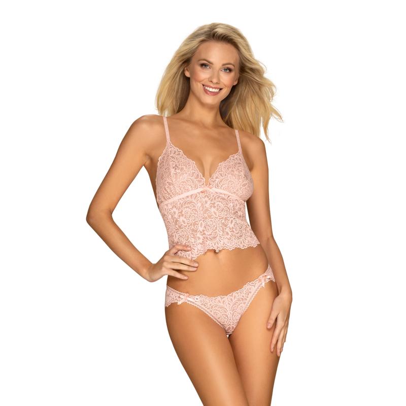 OB1692  Delicanta top & panties pink L/XL EAN:5901688231692