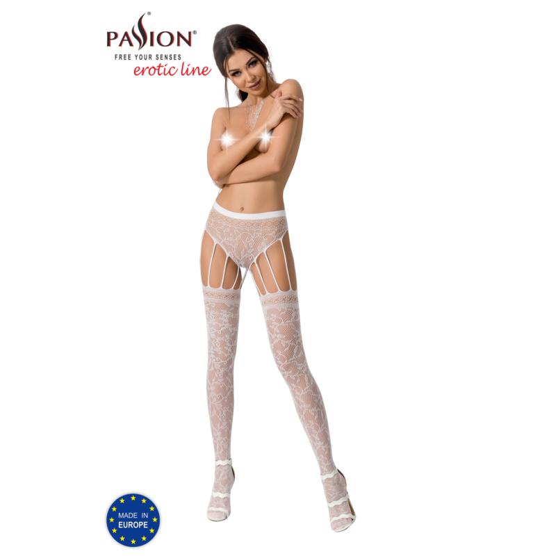 Passion S003 garterstocking fehér S/M/L     EAN:5908305948414