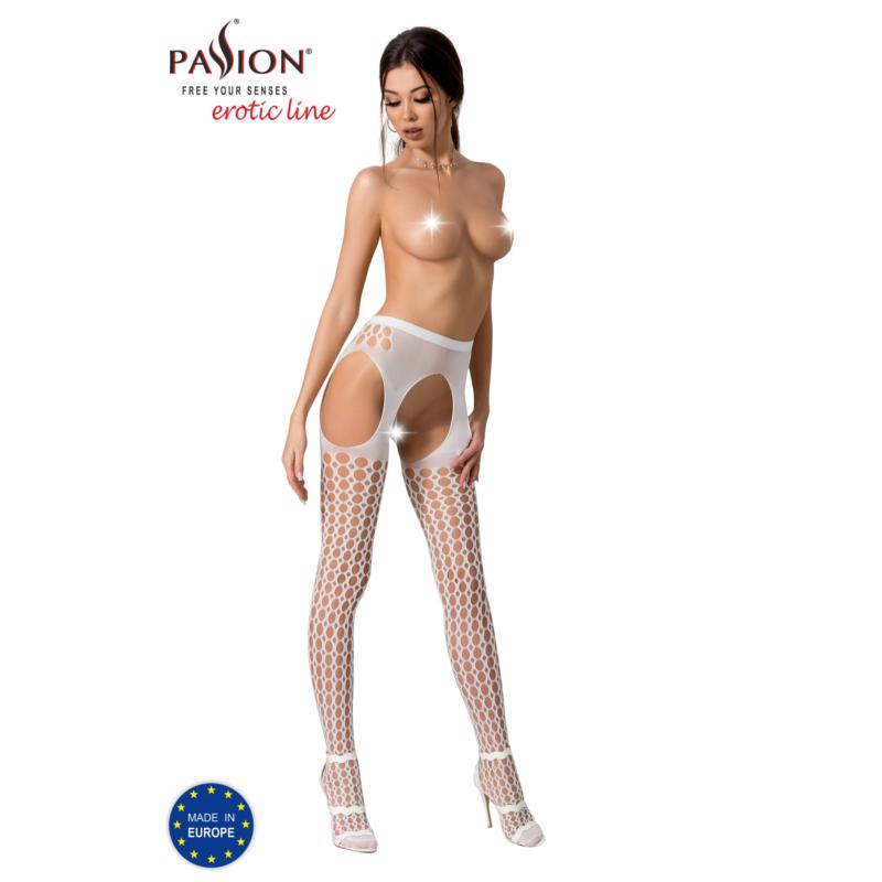 Passion S006 garterstocking fehér S/M/L     EAN:5908305948506