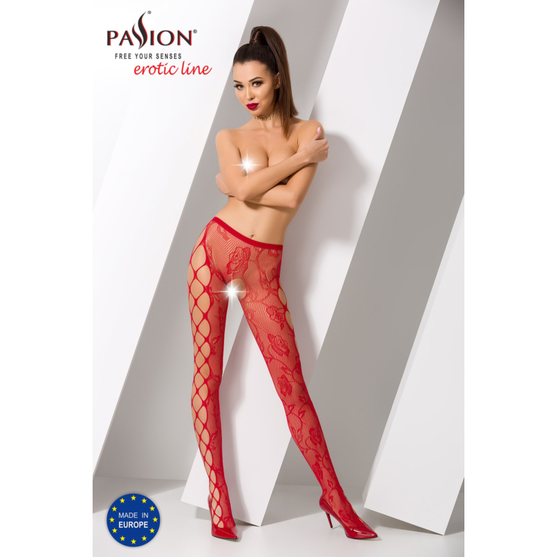 Passion S008 garterstocking piros S/M/L     EAN:5908305948551