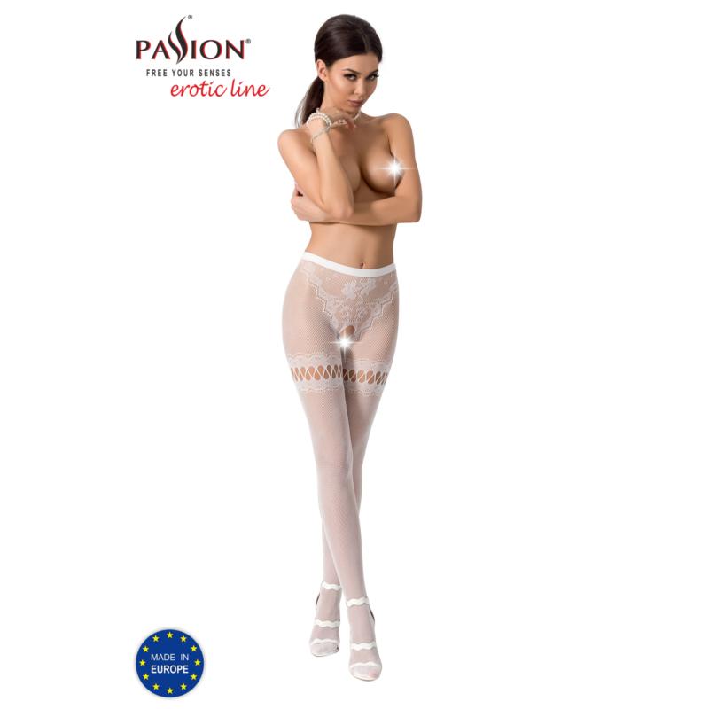 Passion S015 garterstocking fehér S/M/L     EAN:5908305948773