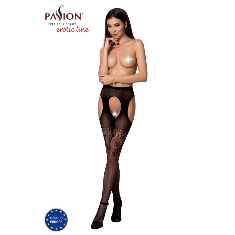 Passion S017 garterstocking fekete S/M/L     EAN: 5908305948810