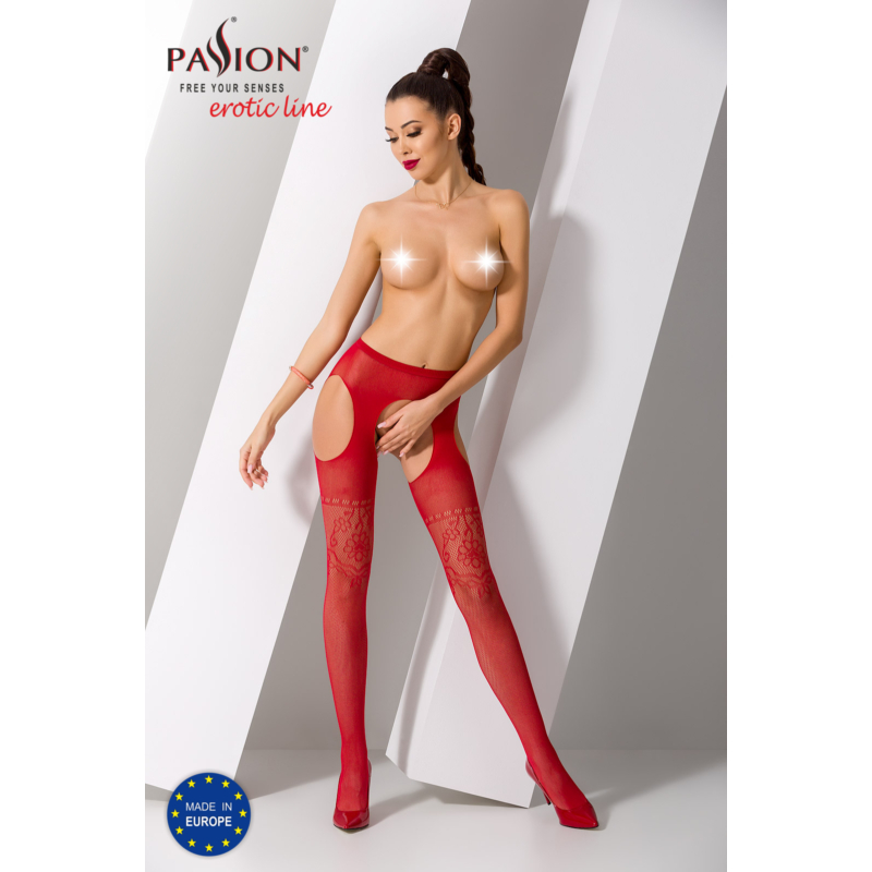 Passion S017 garterstocking piros S/M/L     EAN:5908305948827
