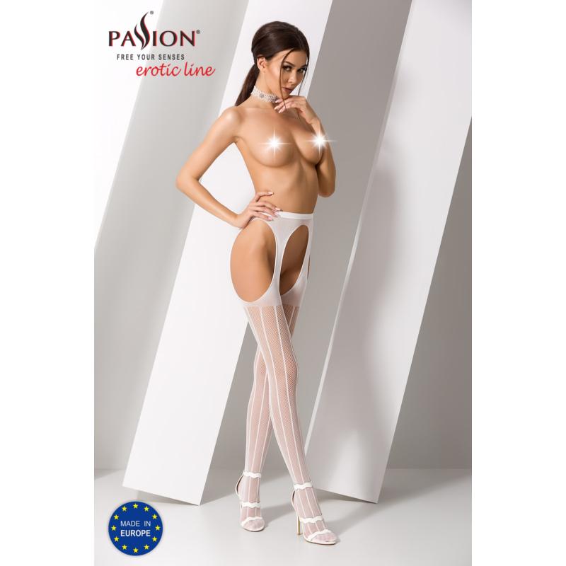 Passion S018 garterstocking fehér S/M/L     EAN:5908305948865