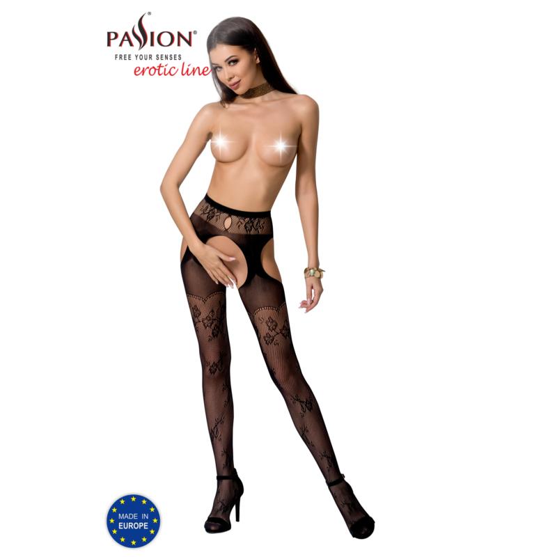 Passion S022 garterstocking fekete S/M/L     EAN:5908305948964