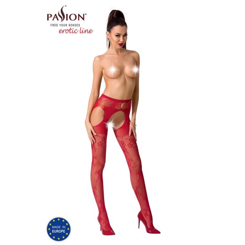 Passion S022 garterstocking piros S/M/L     EAN: 5908305948971