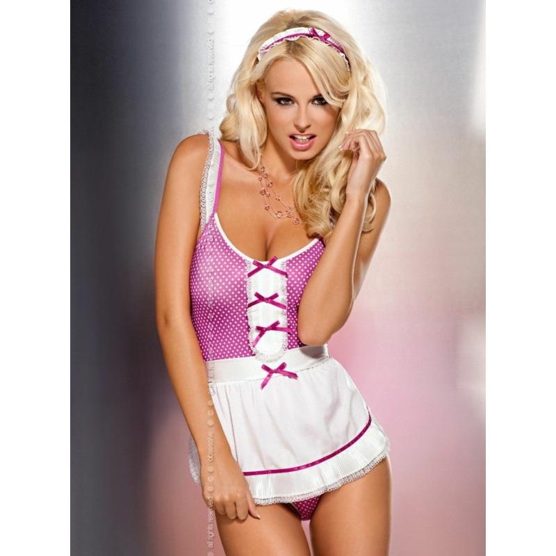 OB2544 OBSESSIVE Creola maid kostum S/M EAN: 5900308552544