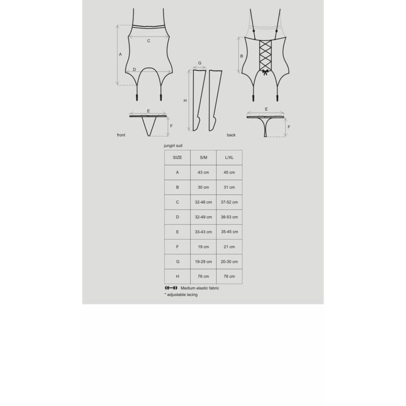 OB4726 OBSESSIVE Jungirl suit S/M EAN: 5901688204726